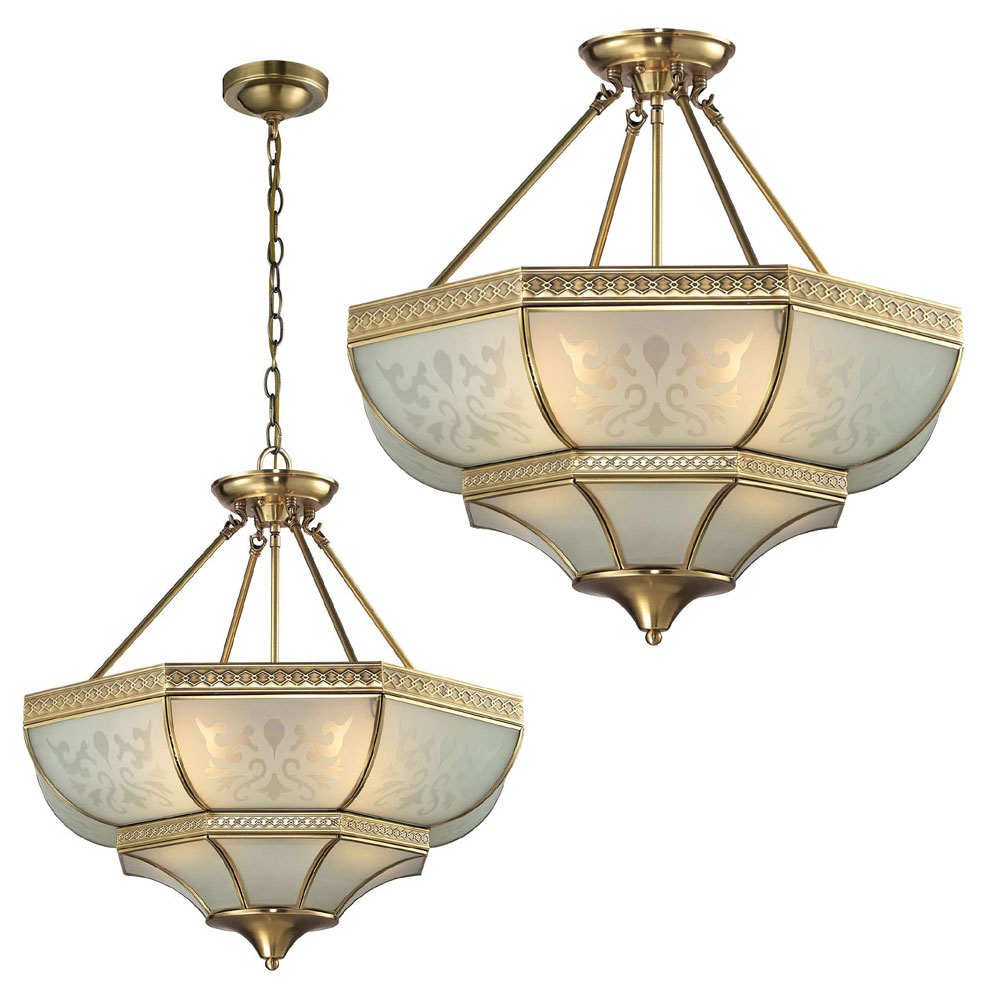 ELK 22007 4 French Damask Traditional Brushed Brass