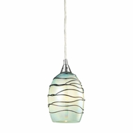 ELK 31348-1MN Vines Modern Satin Nickel Mini Hanging Light