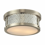 ELK 31421-2 Diamond Plate Brushed Nickel Flush Mount Lighting