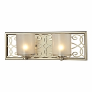 ELK 31427-2 Santa Monica Aged Silver Halogen 2-Light Bathroom Lighting Sconce