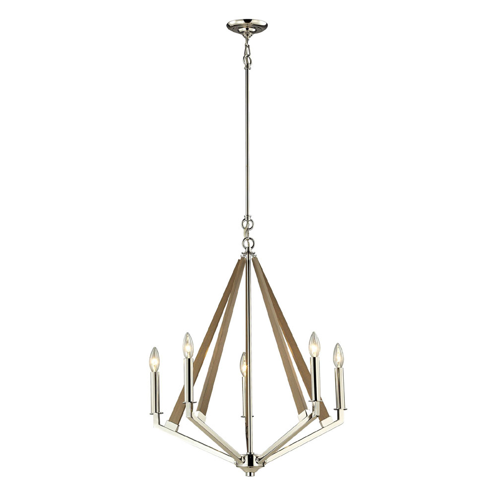 ELK 5 Madera Contemporary Polished Nickel Mini