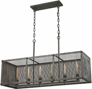 ELK 31511-6 Perry Contemporary Malted Rust Kitchen Island Light