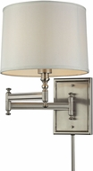 ELK 31530-1 Swingarm Brushed Nickel Wall Swing Arm Lamp