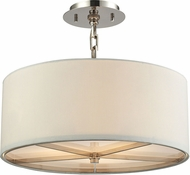 ELK 31650-3 Selma Polished Nickel Drum Lighting Pendant