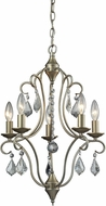 ELK 31804-5 Chandette Aged Silver Mini Chandelier Light