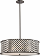 ELK 32106-6 Genevieve Oil Rubbed Bronze Drum Pendant Hanging Light
