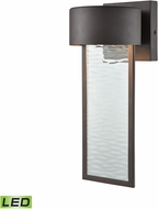 ELK 42540-LED Julius Contemporary Clay Bronze LED Exterior Lighting Wall Sconce