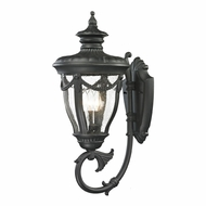 ELK 45077-3 Anise Traditional Textured Matte Black Outdoor Lighting Wall Sconce
