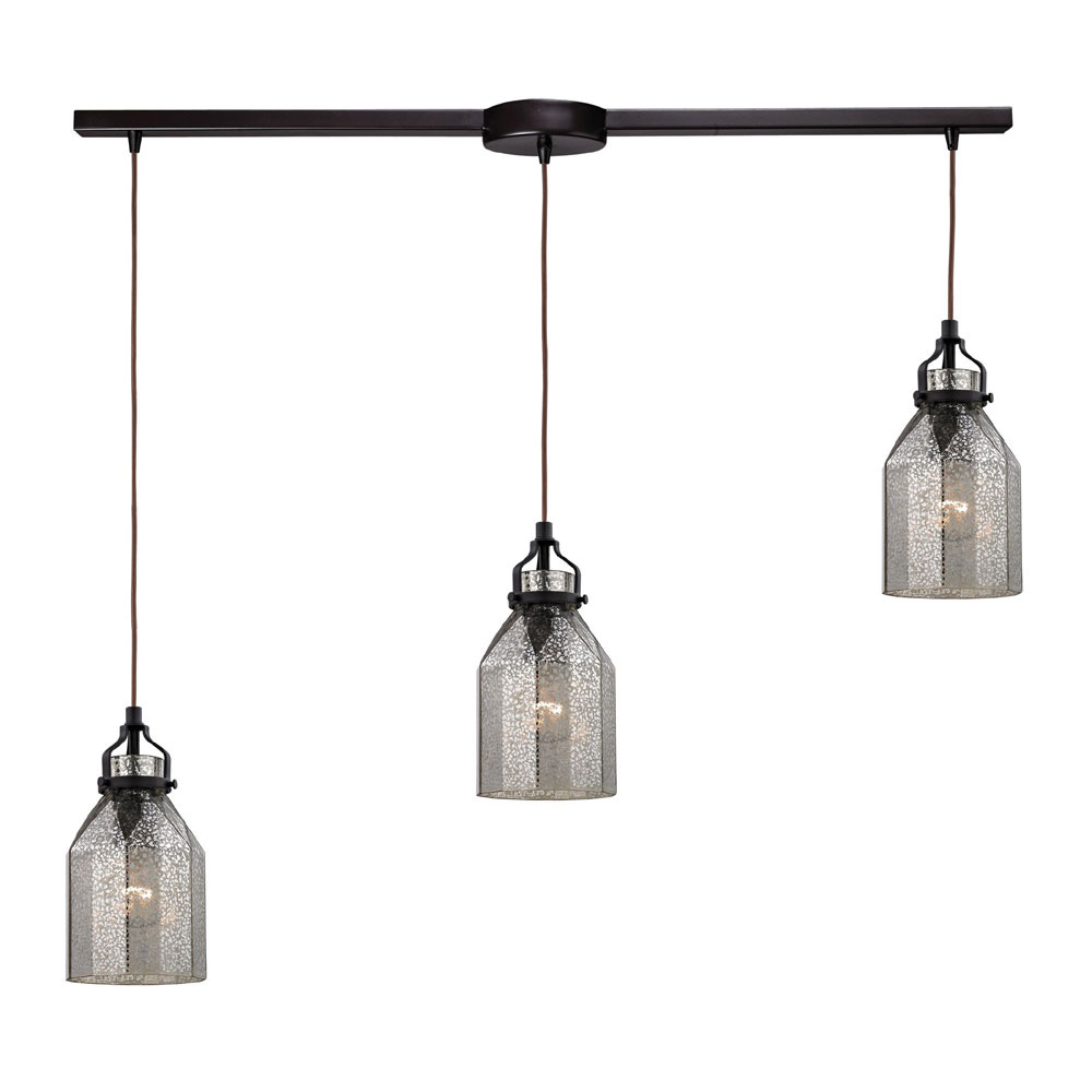 ELK 46009 3L Danica Modern Oil Rubbed Bronze Multi Pendant