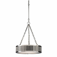 ELK 46104-3 Linden Polished Nickel Drum Hanging Light