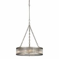 ELK 46115-3 Linden Brushed Nickel Drum Drop Lighting