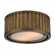 ELK 46120-2 Linden Aged Brass Flush Lighting