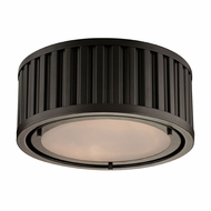 ELK 46130-2 Linden Oil Rubbed Bronze Flush Mount Lighting Fixture