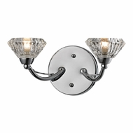ELK 46146-2 Hawthorne Polished Chrome Halogen 2-Light Bath Lighting Sconce