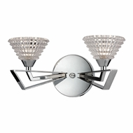 ELK 46151-2 Frenzy Polished Chrome Halogen 2-Light Bathroom Lighting