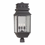 ELK 47062-3 Forged Lancaster Traditional Charcoal Outdoor Post Light Fixture
