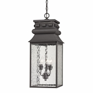 ELK 47066-3 Forged Lancaster Traditional Charcoal Outdoor Hanging Pendant Light