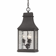 ELK 47074-3 Forged Jefferson Traditional Charcoal Exterior Pendant Hanging Light