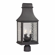 ELK 47075-3 Forged Jefferson Traditional Charcoal Outdoor Post Lighting Fixture