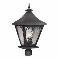 ELK 47084-3 Forged Camden Traditional Charcoal Exterior Lamp Post Light Fixture