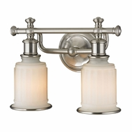 ELK 52001-2 Acadia Brushed Nickel 2-Light Bathroom Lighting Fixture