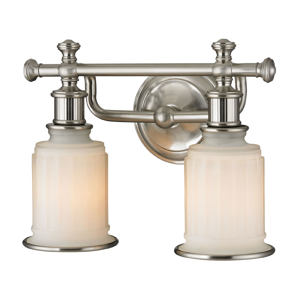 ELK 52001-2 Acadia Brushed Nickel 2-Light Bathroom Lighting Fixture - ELK-52001-2