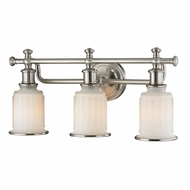 ELK 52002-3 Acadia Brushed Nickel 3-Light Vanity Lighting