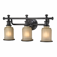 ELK 52012-3 Acadia Oil Rubbed Bronze 3-Light Bath Lighting Fixture