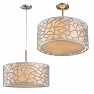 ELK 53001-3 Autumn Breeze Contemporary Brushed Nickel Overhead Light Fixture / Pendant Light Fixture