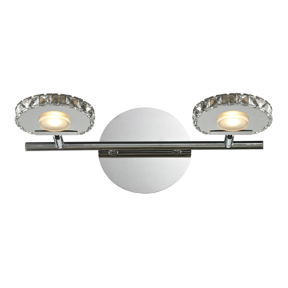 Polished Chrome LED 2Light Bathroom Vanity Lighting  ELK540012