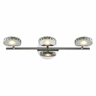 ELK 54002-3 Spiva Contemporary Polished Chrome LED 3-Light Bathroom Vanity Light