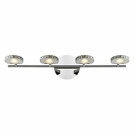 ELK 54003-4 Spiva Modern Polished Chrome LED 4-Light Bathroom Sconce