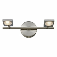 ELK 54011-2 Reilly Modern Brushed Nickel/Brushed Aluminum LED 2-Light Bath Sconce