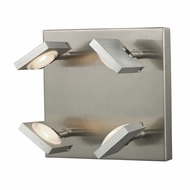ELK 54013-4 Reilly Modern Brushed Nickel/Brushed Aluminum LED 4-Light Vanity Lighting Fixture