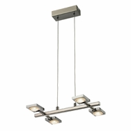 ELK 54016-4 Reilly Contemporary Brushed Nickel/Brushed Aluminum LED Island Lighting