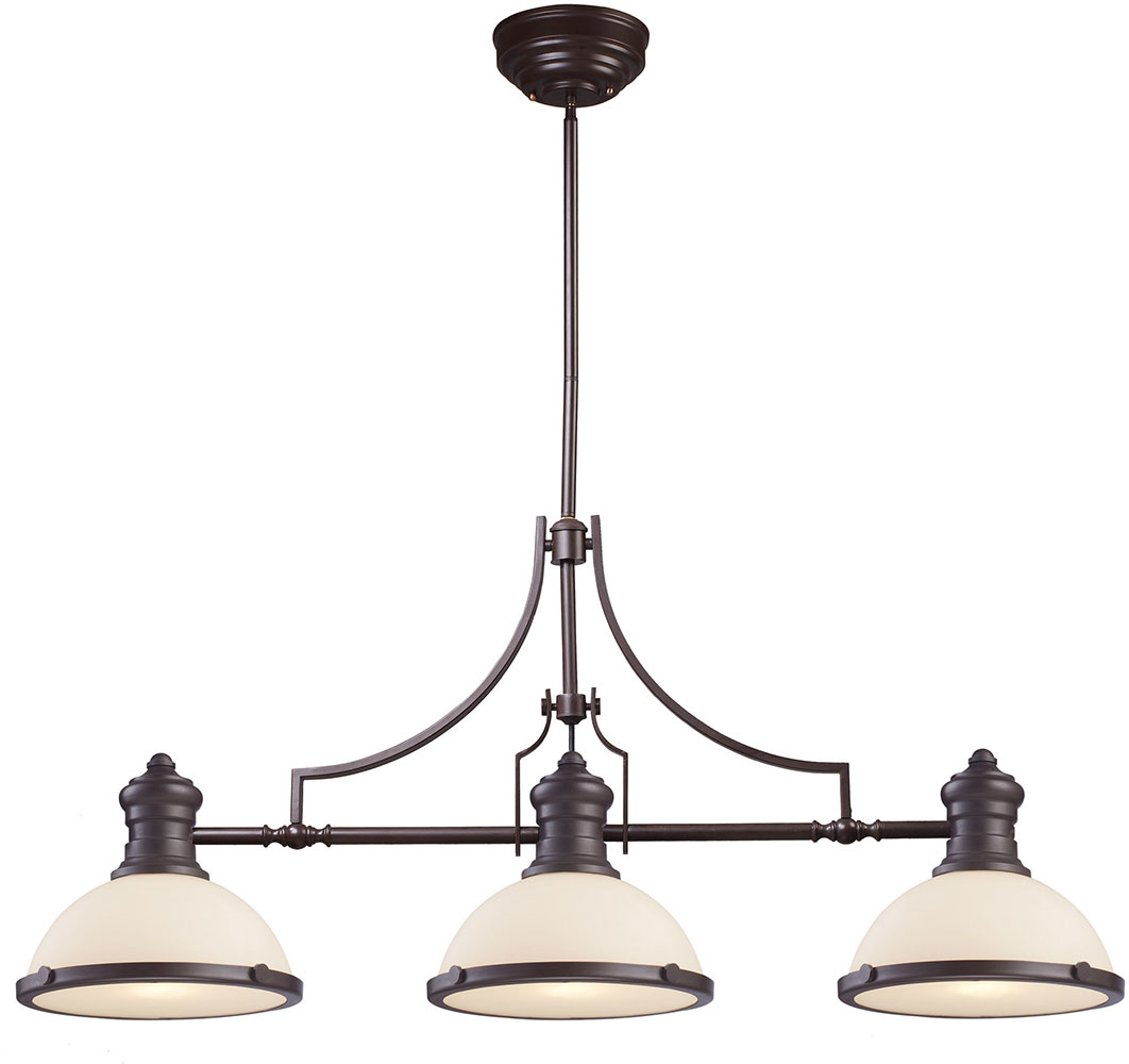 ELK 66635 3 Modern Oiled Bronze Kitchen Island Light