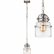 ELK 67112-1 Gramercy Contemporary Polished Nickel Mini Ceiling Pendant Light