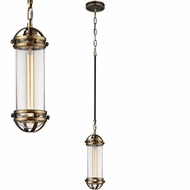 ELK 67131-1 Gramercy Contemporary Antique Brass Oil Rubbed Bronze Mini Hanging Pendant Light