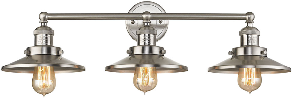 ELK 67172-3 English Pub Contemporary Satin Nickel 4-Light