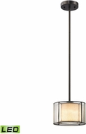 ELK 70224-1-LED Mirage Tiffany Bronze LED Mini Drum Hanging Light Fixture