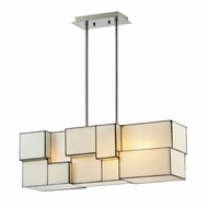 ELK 72063-4 Cubist Contemporary Brushed Nickel Island Lighting