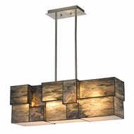 ELK 72073-4 Cubist Contemporary Brushed Nickel Kitchen Island Lighting
