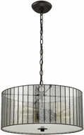 ELK 72146-3 Anders Contemporary Oil Rubbed Bronze Drum Hanging Light