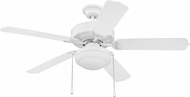 Ellington WOD52WW5PC1 Cove Harbor White Fluorescent Indoor / Outdoor 52  Home Ceiling Fan