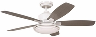 Emerson Ceiling Fans CF630SW Rockpointe Satin White Fluorescent Indoor / Outdoor 54  Home Ceiling Fan