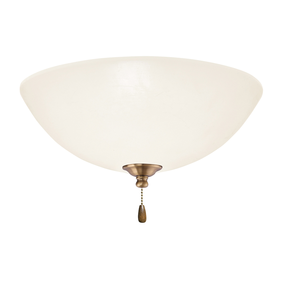 Emerson Ceiling Fans LK81LEDAB Opal Matte Antique Brass LED Fan Light ...