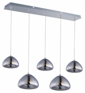 ET2 E22524-81PC Vive Contemporary Polished Chrome Finish 33.75  Wide LED Kitchen Island Light