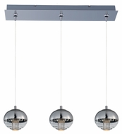 ET2 E22564-81PC Zing Contemporary Polished Chrome Finish 24.75  Wide LED Island Lighting