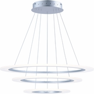 ET2 E22656-11MS Saturn II LED Modern Matte Silver Multi Hanging Lamp