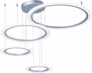ET2 E22662-11MS Saturn II LED Modern Matte Silver Multi Pendant Light Fixture